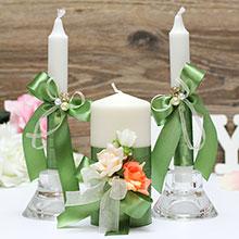 """Свадебные свечи """"Розалина"""""""