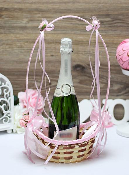 """Корзиночка для лепестков или шампанского """"Очарование"""" (розовый)"""