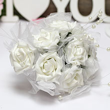 "Букет-дублер для невесты ""Грезы"" (белый)"