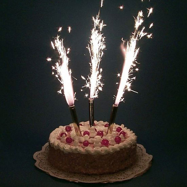 Холодный фонтан в торт (4 шт, 15 см)