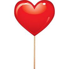 Сердечко на палочке (красное)