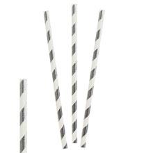 """Трубочки для коктейля """"Stripes"""" (12 шт, серебристые)"""