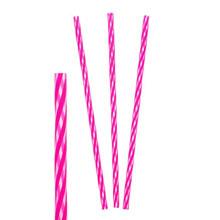 "Трубочки для коктейля ""Полоски"" (10 шт, розовые)"