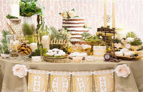 Набор для оформления свадьбы в стиле рустик