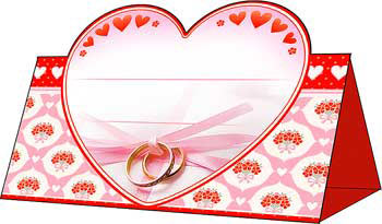 """Рассадочная карточка """"Любовь в сердце"""""""