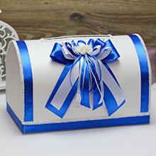 Свадебный сундучок для денег и пожеланий Fantastic (большой) (синий)