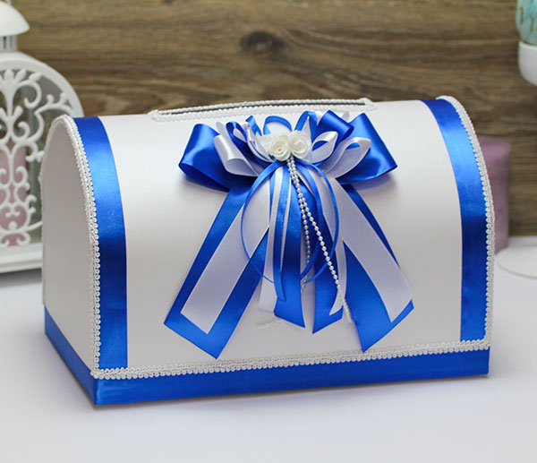"""Свадебный сундучок для денег и пожеланий """"Fantastic"""" (синий)"""