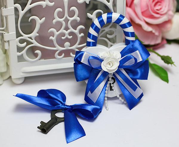 Свадебный замочек Fantastic (синий)