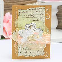 Свадебная открытка ручной работы (#038)