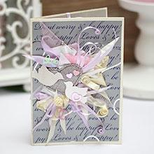 Свадебная открытка ручной работы (#040)