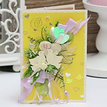 Свадебная открытка ручной работы (#042)