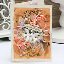 Свадебная открытка ручной работы (#043)