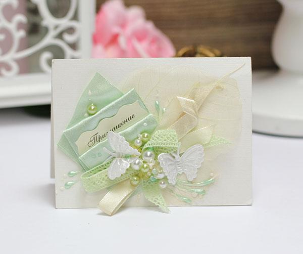 Приглашение на свадьбу ручной работы (#045)