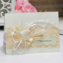 Приглашение на свадьбу ручной работы (#046)