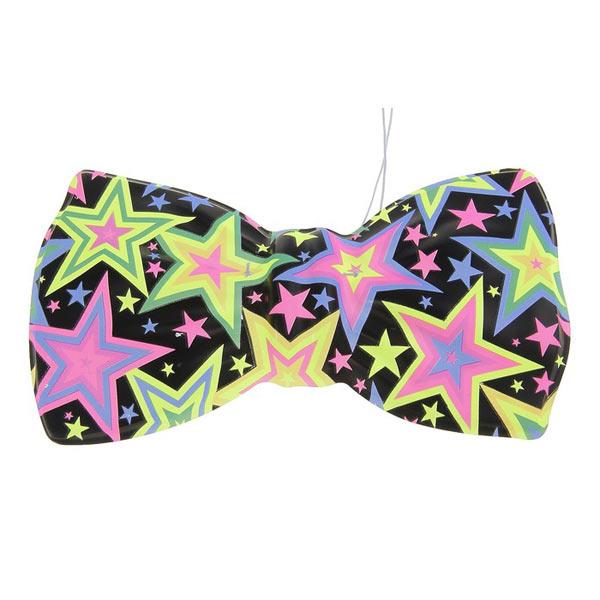 """Большой пластиковый галстук-бабочка """"Звезда"""" (6 шт в наборе)"""