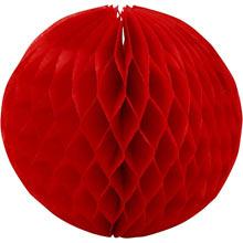 Бумажные шары-соты (15 см, 1 шт, красный)