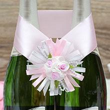 """Украшение для шампанского """"Валенсия"""" (розовый)"""