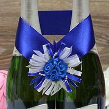 """Украшение для шампанского """"Валенсия"""" (синий)"""