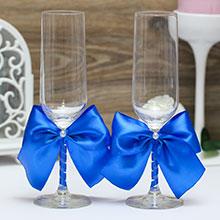 Свадебные бокалы Paradise (синий)