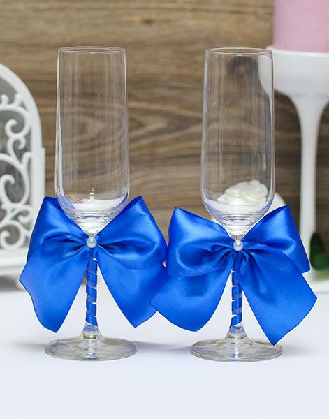 Свадебные бокалы Paradise (2 шт) (синий)