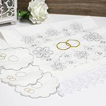 Венчальный комплект: рушник + салфетки