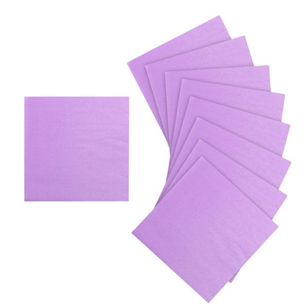 Упаковка однотонных салфеток (20 шт, 33х33 см)