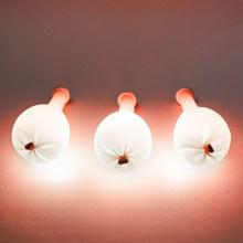 Светящийся воздушный шар со светодиодом (красный)