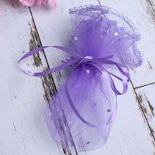 Подарочный мешочек (в собранном виде 8*6 см; фиолетовый)