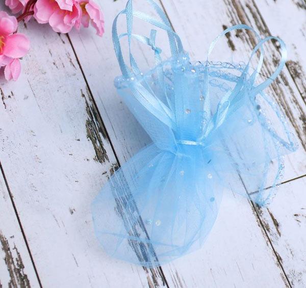 Подарочный мешочек (в собранном виде 8*6 см; голубой)