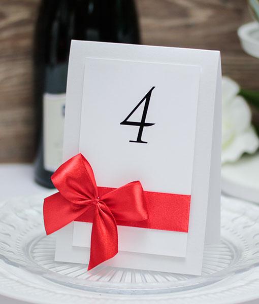 Карточка с номером стола Paradise (красный)