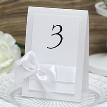 """Карточка с номером стола """"Paradise"""" (белый)"""