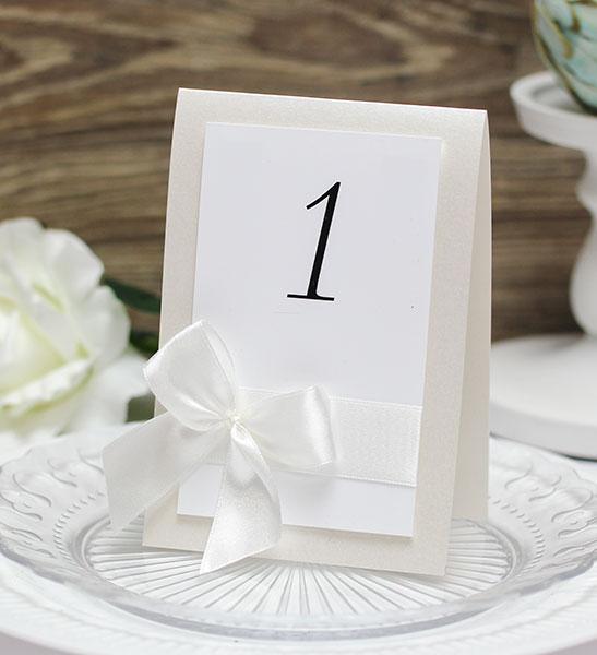 Карточка с номером стола Paradise (айвори)