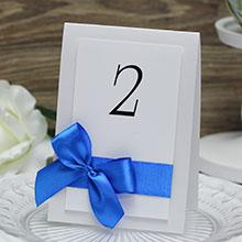 """Карточка с номером стола """"Paradise"""" (синий)"""