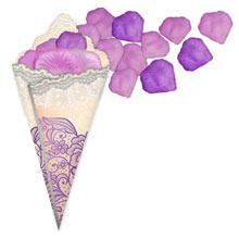 Кулечек + лепестки (цвет: сиреневый+фиолетовый)