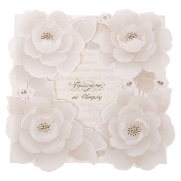 """Приглашение на свадьбу """"Роскошные розы"""""""