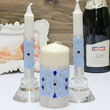 "Свадебные свечи ""Капли нежности"""