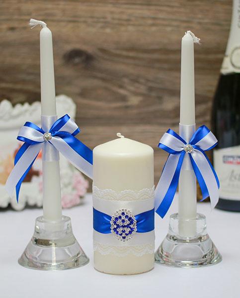 "Набор свечей для свадьбы ""Ледяная сказка"""