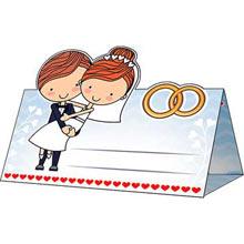 """Рассадочная карточка для свадебного банкета """"Милая пара"""""""