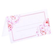 """Банкетные карточки для гостей  """"Цветы"""""""