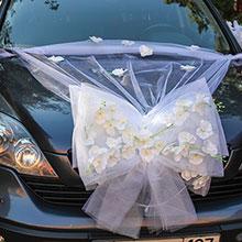 Украшение на свадебную машину «Седьмое небо» (белый)