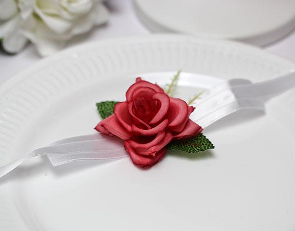 """Браслет для подружек невесты """"Роза"""" (темно-розовый)"""