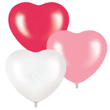 """Набор воздушных шаров """"Сердца"""" (5 шт, 40 см)"""
