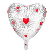 Фольгированный воздушный шар в форме сердца (45 см)