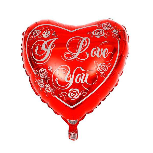 """Фольгированный воздушный шар """"I love you"""" (45 см)"""