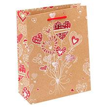 """Бумажный пакет для подарка """"Счастливый день"""" (18х23х8 см)"""