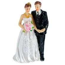 """Фигурка для торта на свадьбу """"Молодожены"""" (10,5 см)"""