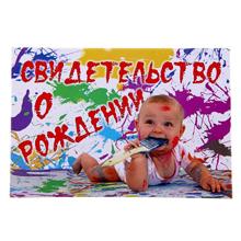 """Свидетельство о рождении """"Маленький художник"""""""