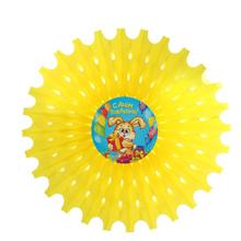 """Бумажный декор """"Зайка с подарком"""" (диаметр - 50 см)"""