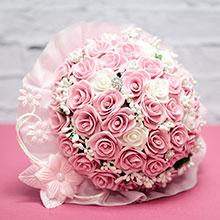 """Букет-дублер для невесты """"Свадебная мечта"""" (розовый)"""
