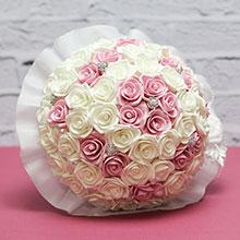 """Букет-дублер для невесты """"Свадебная мечта"""" (розовый/айвори)"""